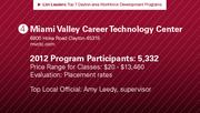 Miami Valley Career Technology Center has the No. 4 workforce development program.
