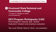 Cincinnati State Technical and Community College has the No. 3 workforce development program.
