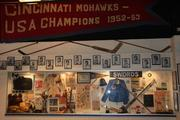 A display in the Legends Museum at Cincinnati Gardens.