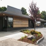Credit union keeps funky, signature roof intact as part of an extensive remodel