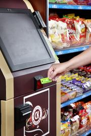 Employees can walk up at any time and pay for food using a credit card or a pre-paid Company Kitchen card.