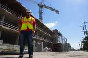 Sean Cullen of J.P. Cullen & Sons stands outside the construction site.
