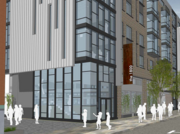 A rendering of a planned residential project at 1800 San Pablo Ave.