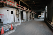 The interior of a paper making building at the Blue Heron Paper Co. plant at Oregon City.