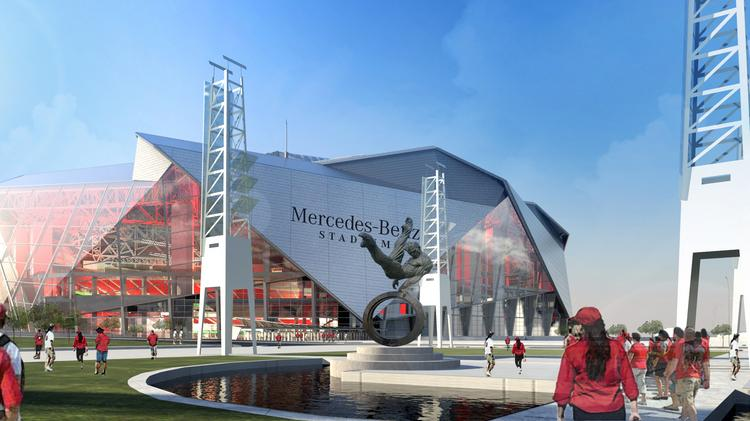 Blank confirms mercedes benz stadium deal reveals new for Mercedes benz stadium atlanta united