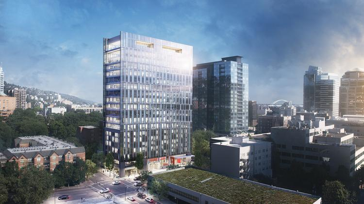BPM Real Estate Group has announced plans for a 20-story office tower and hotel near the South Park Blocks downtown.