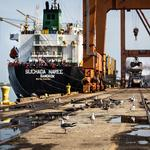 Image of the day: The Suchada Naree docks in the Port of Wilmington