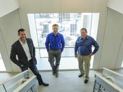 Rusty Kelley, CFO, Matt Owens, president, and Mark Erickson, chairman and CEO at  Extraction Oil & Gas LLC's new offices at the top of Republic Plaza.