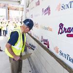 Atlanta Braves lay first brick at SunTrust Park (SLIDESHOW)