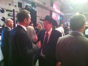 WWE legend and ring-side commentator Jim Ross was on site talking to guests.