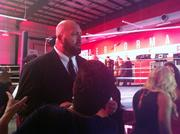 WWE Superstar The Big Show was on site making sure every knows WWE always goes big when it can.