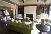 Soft greens fill the Chateau D'Avoise family room.