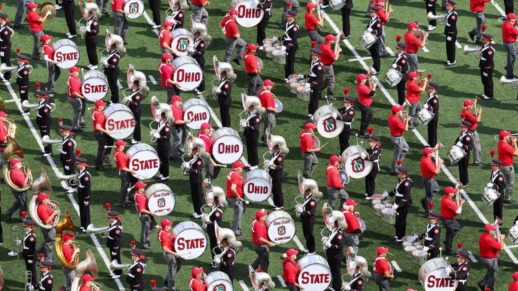 OSU Marching Band at Ohio State Buckeyes' home opener