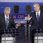 Trump hit hard in debate, but he gave as good as he got