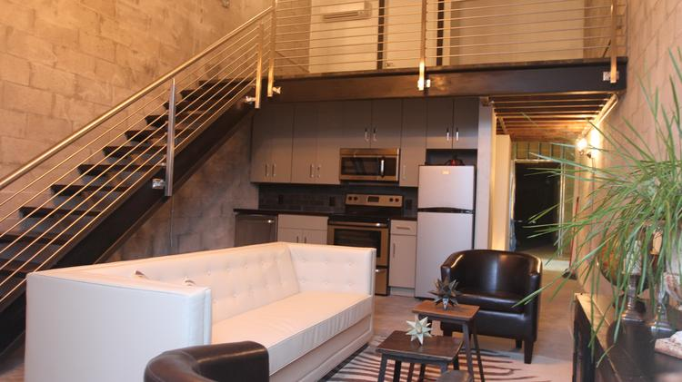 The Model Apartment At Warehouse Lofts In Seminole Heights Is 720 Square Feet