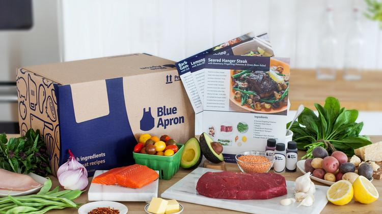 Blue Apron delivers recipes and ingredients to its subscribers.