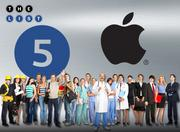 No. 5: Apple Inc.  Address: 1 Infinite Loop, Cupertino 95014  FTE employees in Silicon Valley:  12,000-13,000