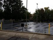 The parking lot attached to the sale.