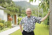Mitch D'Olier says he plans to retire as head of Kaneohe Ranch Co. LLC and the Harold K.L. Castle Foundation sometime next year. The foundation's Kailua offices are shown in the background.