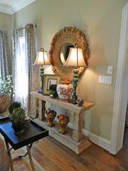 Rock Springs House 1: Table and lamp arrangement