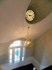 Rock Springs House 3: Large clock inset into ceiling
