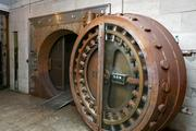 In the basement, a 12-foot-high vault leads into a room with 2,300 rusty safety deposit boxes. Developers Barry Siegal and Willard Tucker are looking to transform the basement into restaurant or retail space.