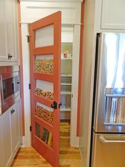Rock Springs House 6: Pantry with food storage feature built into the door