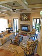 Rock Springs House 8: Great room with coffered ceiling