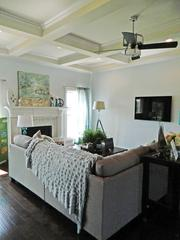 Rock Springs House 10: Great Room with coffered ceiling