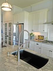 Rock Springs House 10: Kitchen countertop, sink and fixtures
