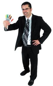 """Ryan Entz - Director of marketing & communications, Wichita Metro Chamber of Commerce """"A Sharpie punctuates creativity, boldness and inspiration. All of which I can only hope characterize my work, my faith and my life. Plus, I give a Sharpie to my kids and they immediately get crazily imaginative."""""""