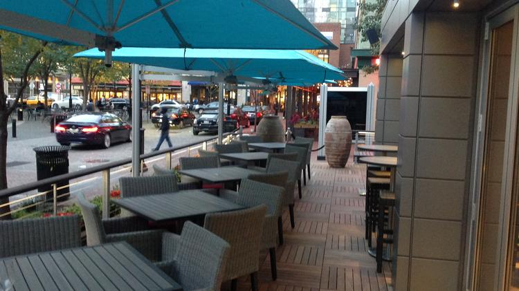 Poros Features Outdoor Seating That Wraps Around The Corner Of 2 Ppg Place