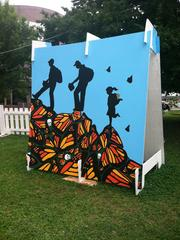 A display at the 10,000 Brushes Mural Project.