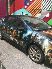 """A """"Lord of the Rings"""" car at Artscape."""