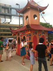 A pagoda on display at Artscape.