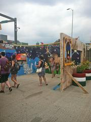 An Artscape mural where visitors were invited to pose in front of for a picture.