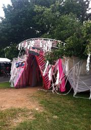 Outside the Soundfest tent at Artscape.