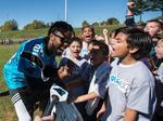 Elementary students score visit, play alongside Carolina Panthers (PHOTOS)