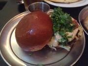 Spiced lamb burger