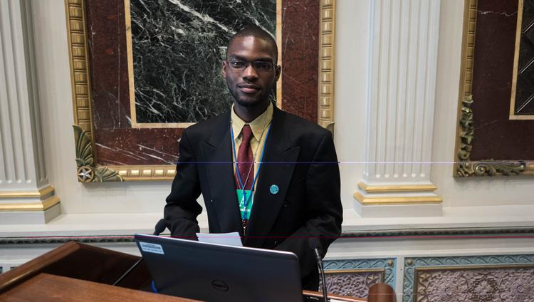 Nicodemus Madehdou, of Northeast Philadelphia, was recognized at the White House for an educational app he helped to develop.
