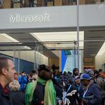 Crowds converge as Microsoft opens massive Fifth Avenue flagship