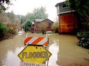 El Niño storms flooded the Russian River, causing damage to many homes and businesses in the area.