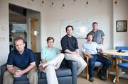 StudioNow is back in the hands of its executive team, from left: CFO Rob Tanner; John Wallace, vice president of production; CEO and founder David Mason; President and COO David Corts; and Doug Marrs, vice president of account management. (Not pictured: Founder and Chief Technology Officer Adam Solesby.)