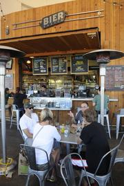The Whole Foods' Bier Garten in Folsom offers live music and trivia nights.