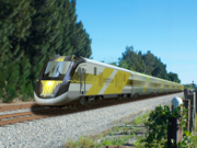 The Brightline locomotives will be yellow.
