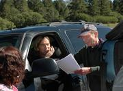 """Jeff Kingery gives instructions to his cast and crew while directing his first film, """"Table 47."""" Kingery said he is impressed with the talent in the Colorado film community."""