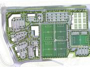 Futsal City USA — Location: 48 acres at the southeast corner of Prairie Star Parkway and the future Ridgeview Road in Lenexa. Total development cost: $94 million. Developer: Mike Christie. Proposed uses: 128,000-square-foot National Futsal Training Center, including indoor futsal courts, retail and dining facilities, and corporate offices; five outdoor soccer fields; 43,800 square feet of additional retail space; 17,400 square feet of additional restaurant space; 70 apartments; 150-room hotel; 391-bay storage facility.