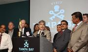 Visit Tampa Bay's President and CEO Santiago Corrada addresses the press conference announcing that Tampa will be the site of the 2014 IIFA Weekend and Awards. Once again, I'm proud of Tampa and all it's conquests and accomplishments. These people put a very human face on business and community pride.