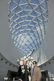 Salvador Dali Museum Director Hank Hine and Nate Schwagler, creative-in-residence and instructor of entrepreneurship at the University of South Florida St. Petersburg.