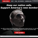 Northrop Grumman's stealth bomber marketing campaign takes patriotism into overdrive